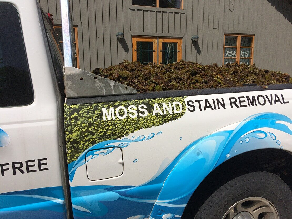 Removed moss in Rotban truck