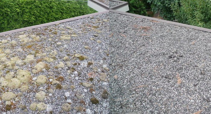 Gravel Roof Cleaning