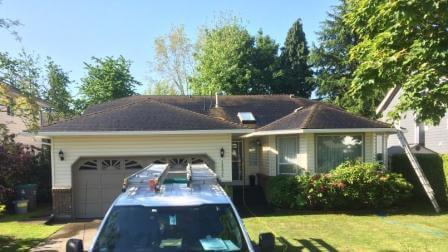 Before, Roof stain removal Story rotban