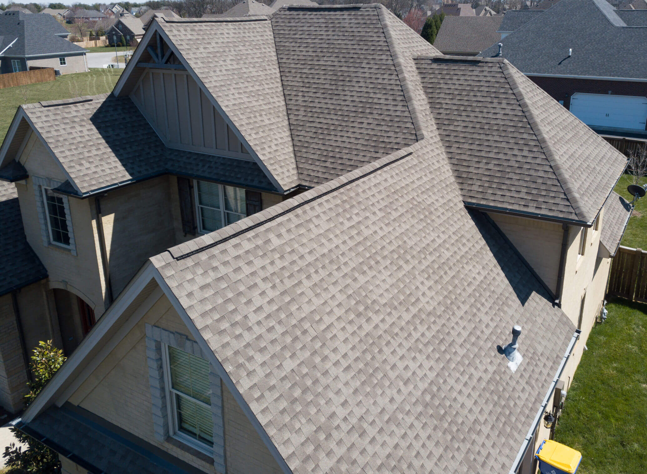 A complete residential roof