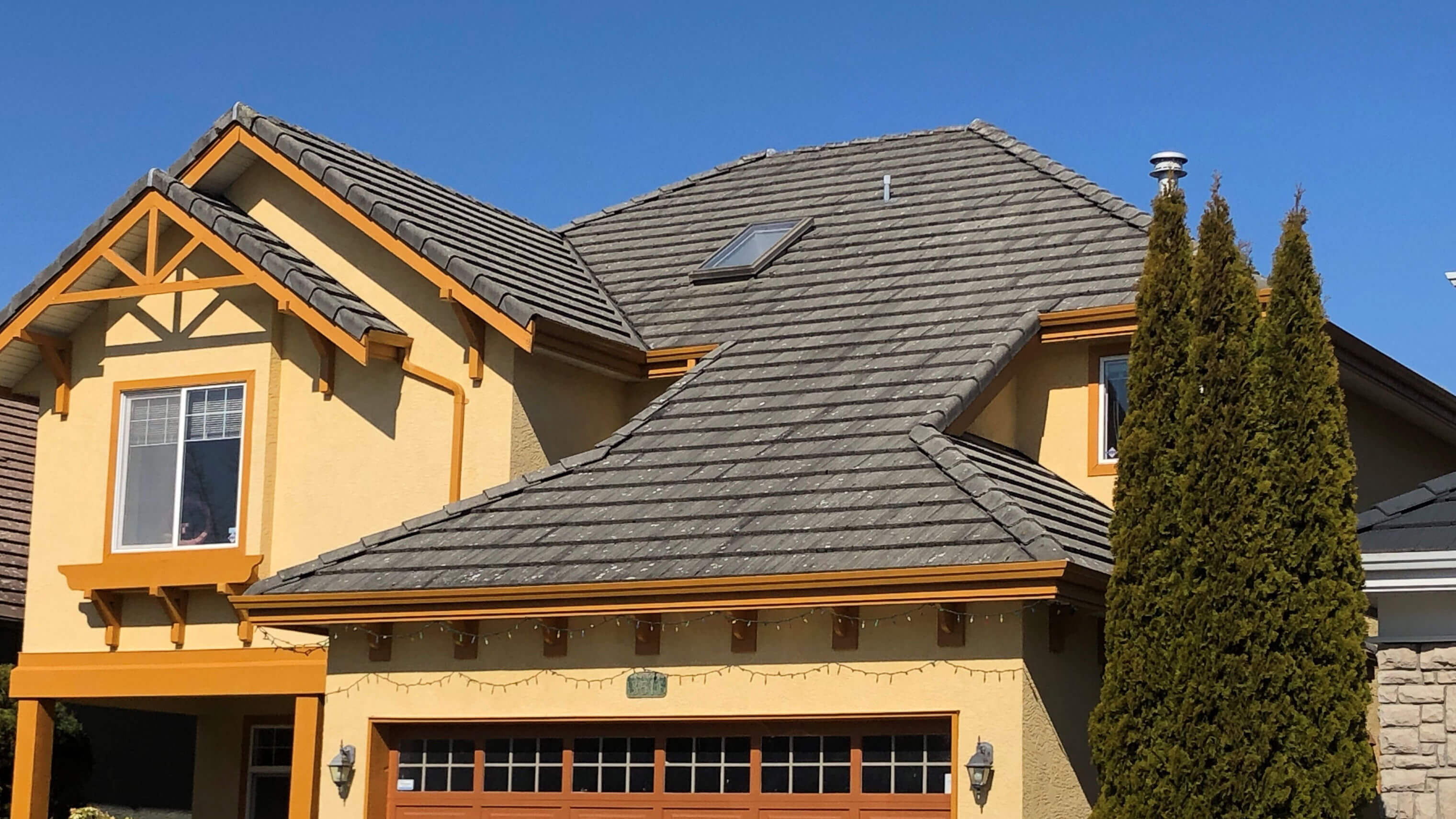 Example of roof efflorescence